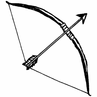 Aesthetic bow and arrow clipart clip art black and white download Free Arrows Images PNG Image, Transparent Arrows Images Png Download ... clip art black and white download