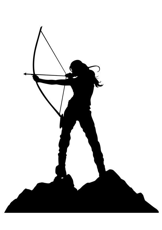 Aesthetic bow and arrow clipart