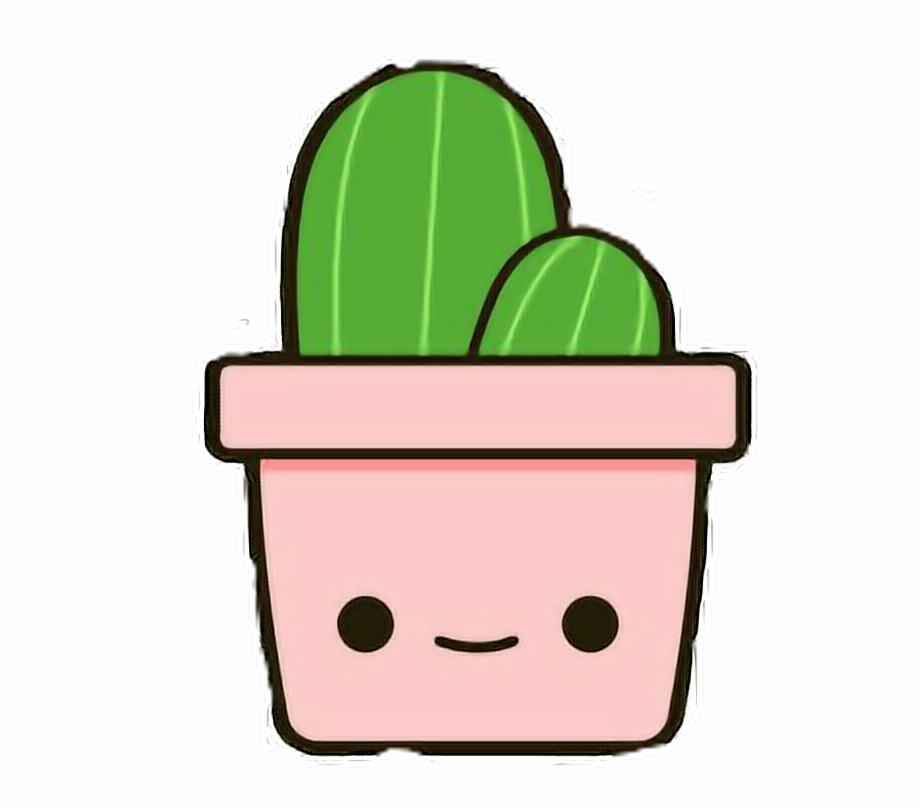 Aesthetic cactus clipart clip black and white stock Ikawaii Cute Cactus Cutie Aesthetic Art Cartoon Pink - Cactus Kawaii ... clip black and white stock