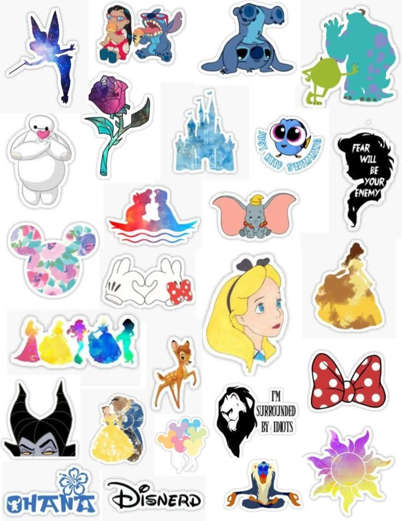 Aesthetic clipart stickers picture free Walt Disney sticker pack tumblr stickers aesthetic tinker bell lilo ... picture free