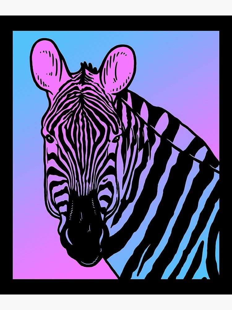 Aesthetic clipart zebra picture royalty free stock Vaporwave Zebra Aesthetic Pastel Goth Zebras   Greeting Card picture royalty free stock