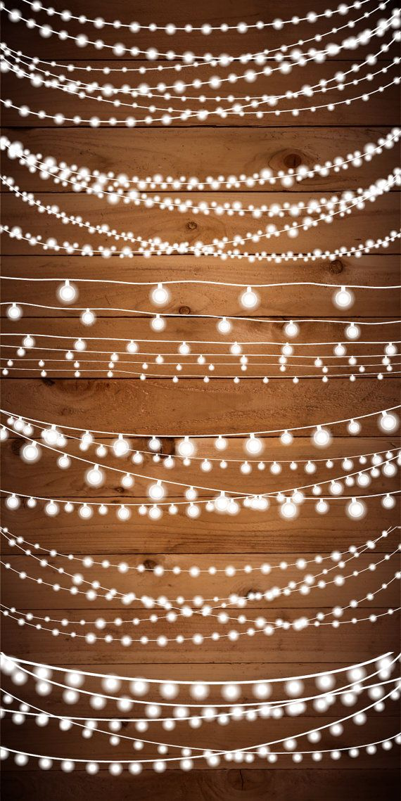 Free pink fairy string lights clipart background
