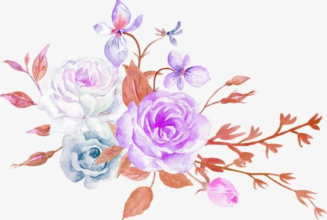 Aesthetic flower clipart png download Watercolor Flowers Flowers PNG, Clipart, Aesthetic, Decorative ... png download