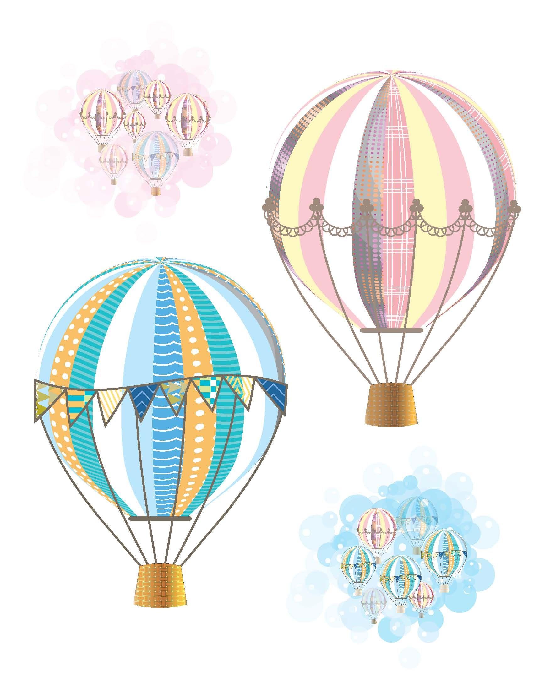 Aesthetic hot air balloon clipart image Pin de Maryam en Free Printables | Globos de aire caliente, Dibujo ... image