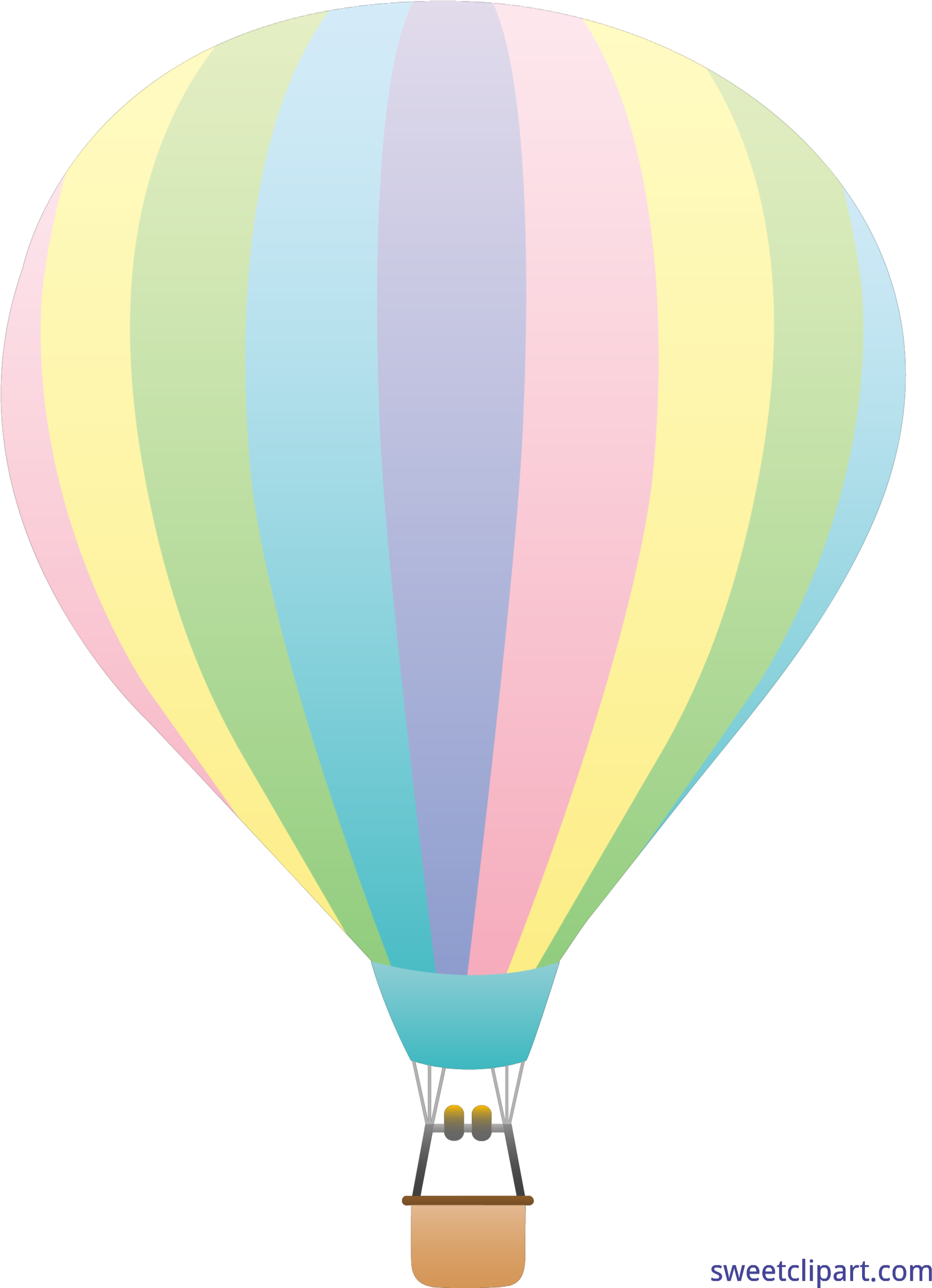 Aesthetic hot air balloon clipart vector library download Vector Transparent Download Hot Air Clip Art - Pastel Hot Air ... vector library download