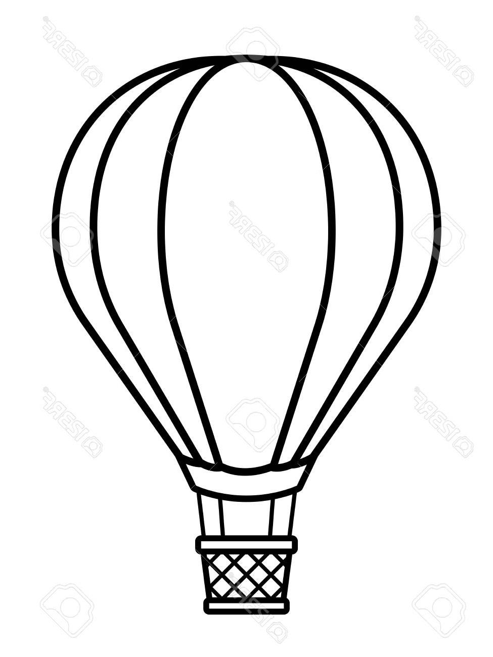 Aesthetic hot air balloon clipart graphic free Unique Hot Air Balloon Silhouette Vector Image » Free Vector Art ... graphic free