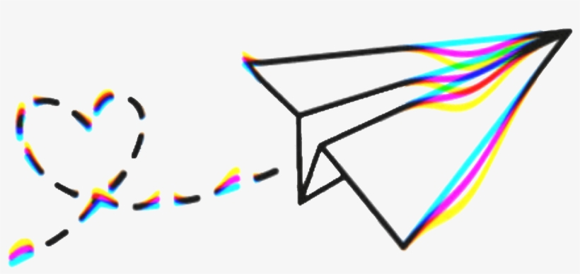 Aesthetic paper airplane clipart jpg black and white stock Paper Plane Airplane Vhs - Aesthetic Paper Airplane Drawings ... jpg black and white stock