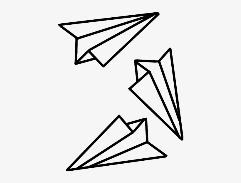 Aesthetic paper airplane clipart clip royalty free stock Paperplanes Paperplane Planes Paper Tumblr Cute - Black And White ... clip royalty free stock