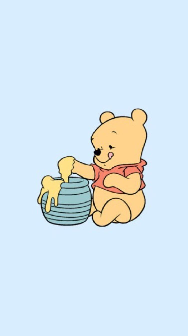 library of aesthetic pooh clipart transparent stock png