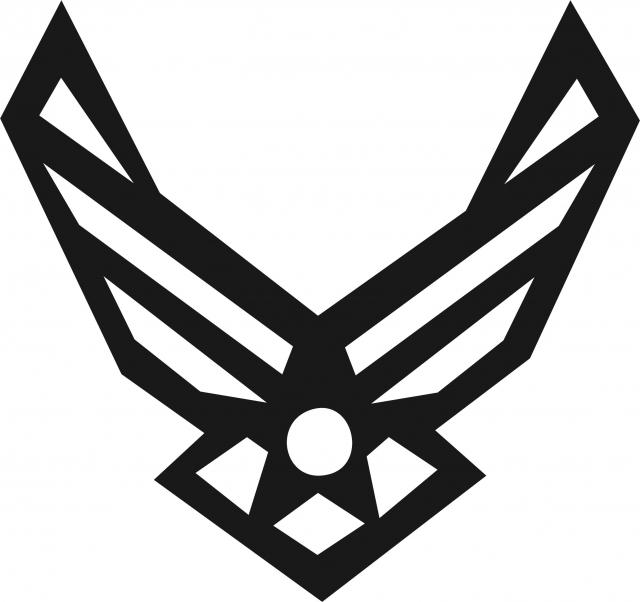 Af emblem clipart jpg black and white Air Force Symbol Silhouette Laser Cut Appliques jpg black and white