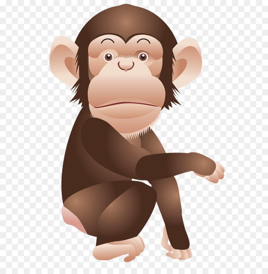 Affe bild clipart svg download Schimpanse Affe Affen clipart - Monkey PNG Clipart Bild png ... svg download