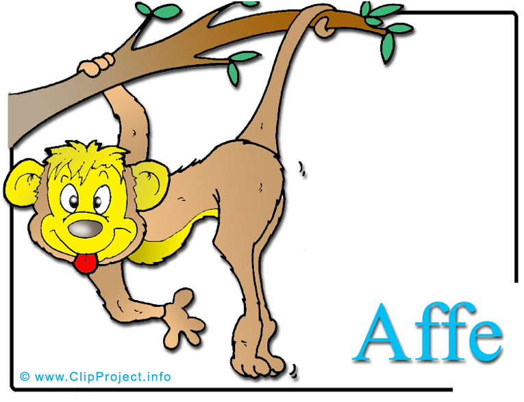 Affe clipart kostenlos picture black and white stock Affe Clipart-Bild Zoo picture black and white stock