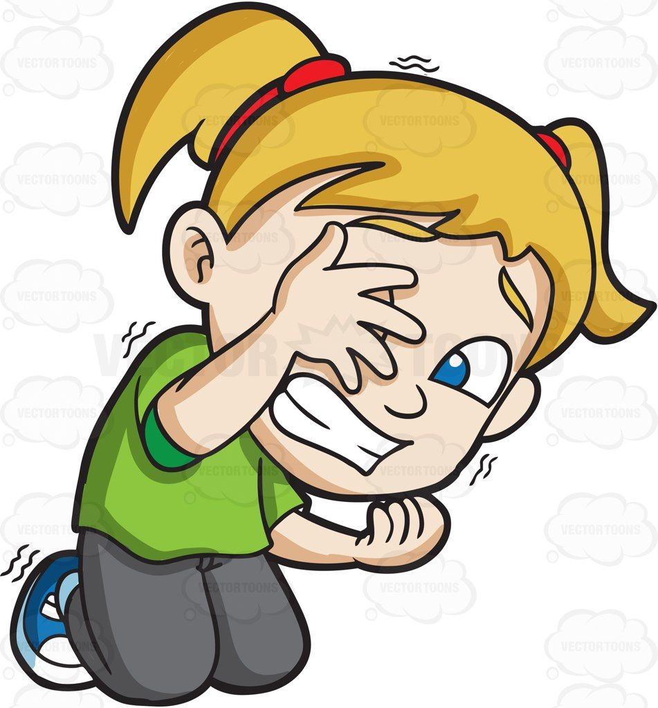 Afraid boy clipart picture transparent A very afraid girl trying to hide herself from danger #cartoon ... picture transparent