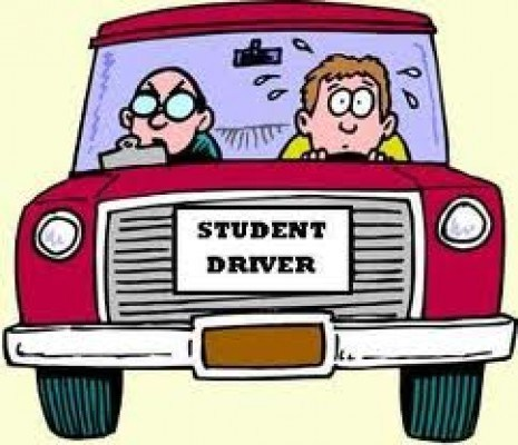Afriad of driving clipart vector free download Anxiety and The Driver\'s Test vector free download