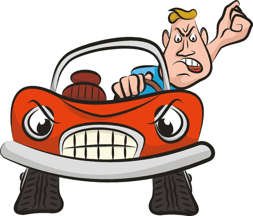 Afriad of driving clipart banner library What to Do if You\'re the Victim of Road Rage   SafeBee banner library
