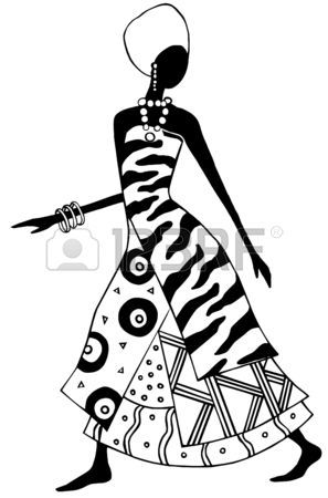 Africa black and white clipart clipart free download Stock Vector | Black & white | African paintings, Africa art ... clipart free download