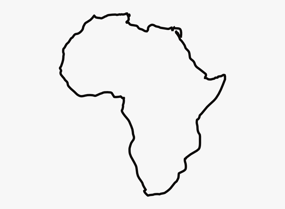 Africa black and white clipart png black and white library Africa Black And White Clipart - Continent Of Africa Outline #297629 ... png black and white library