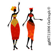 Africa ladies clipart vector download African Woman Clip Art - Royalty Free - GoGraph vector download