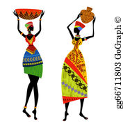 Africa ladies clipart clipart royalty free African Woman Clip Art - Royalty Free - GoGraph clipart royalty free