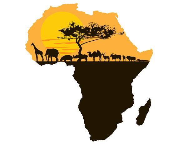 Africa logo clipart svg free stock Africa, Continent, Landscape, African, Art, Silhouette,SVG,Graphics ... svg free stock