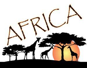 Africa logo clipart vector freeuse download African logos design | ... Clip Art Image: African Wildlife ... vector freeuse download