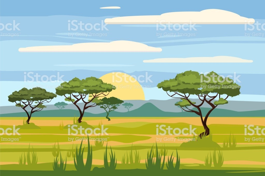 Africa savanas clipart clip art black and white library 25+ African Landscape Clip Art Pictures and Ideas on Pro Landscape clip art black and white library