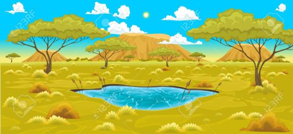 Africa savanas clipart png free 25+ Cartoon African Savanna Landscape Pictures and Ideas on Pro ... png free