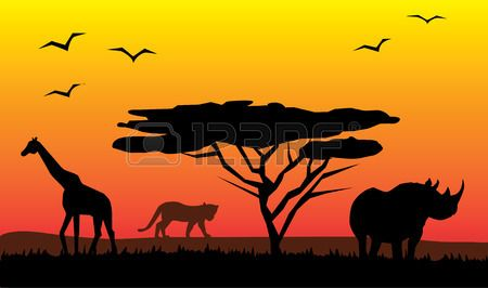 African safari images clipart banner library library Kenya Safari Stock Vector Illustration And Royalty Free Kenya Safari ... banner library library