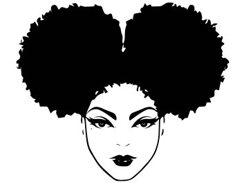 Black and white clipart of african american women png free Black Girl Afro Drawing | Free download best Black Girl Afro Drawing ... png free