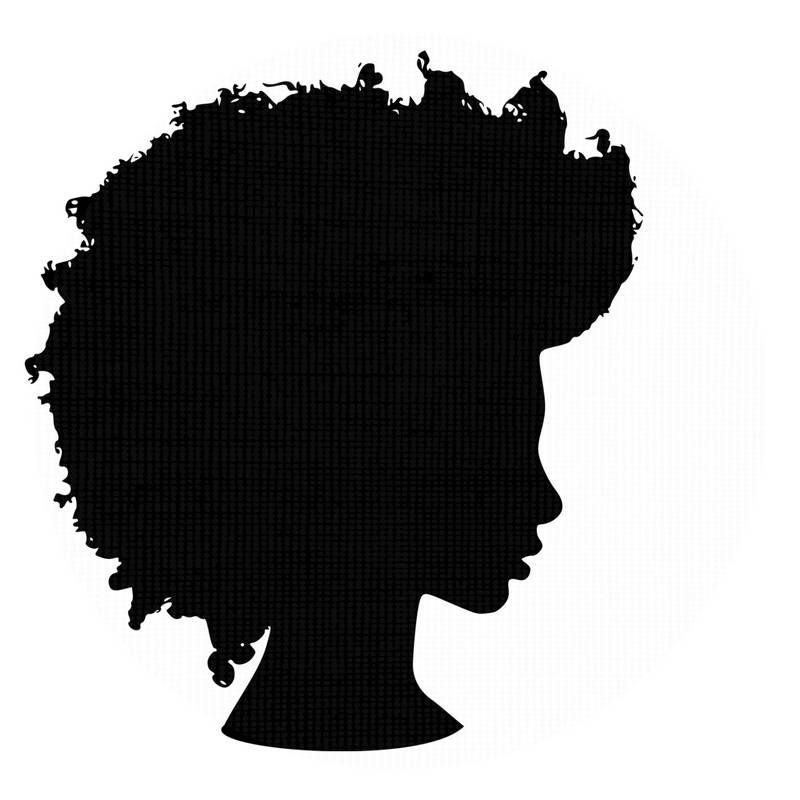 African america clipart with afro graphic royalty free library Afro Silhouette SVG Clip Art Natural Nappy Hair PNG Files African ... graphic royalty free library