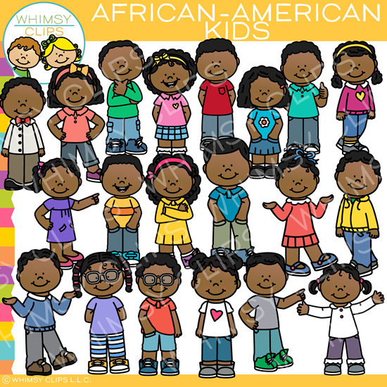African american art clipart clip freeuse library Everyday African-American Kids Clip Art clip freeuse library
