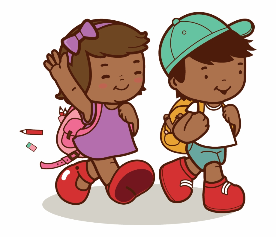 African america kids clipart clip art free African American Kids Walk To School - Go To School Clipart Png Free ... clip art free