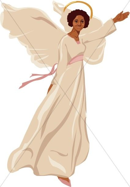 African american angel clipart images black and white download Angel Clipart, Angel Graphics, Angel Images - Sharefaith | Angels ... black and white download