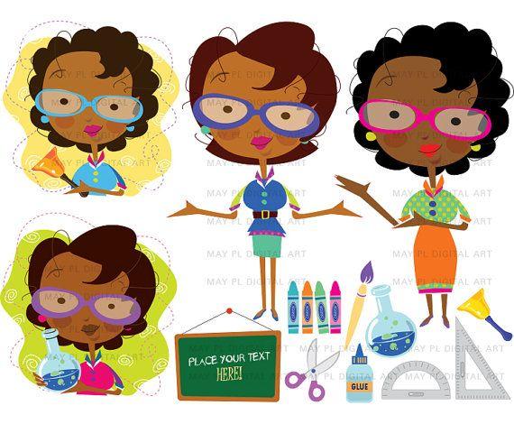 African american art clipart clip art African American Woman Teacher, Classroom Clip Art - Cute Black Lady ... clip art