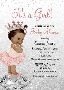 African american baby shower clipart black and white African American Baby Shower Invitations | Zazzle black and white
