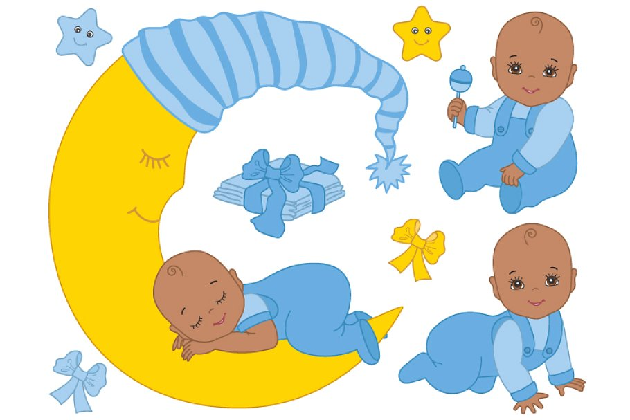 African american baby shower clipart clip transparent download African American Infant Baby Boy clip transparent download