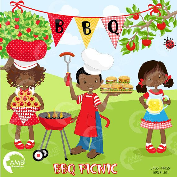 African american barbque cookout clipart transparent library BBQ clipart, Picnic clipart, Backyard Barbecue Bbq party clipart ... transparent library