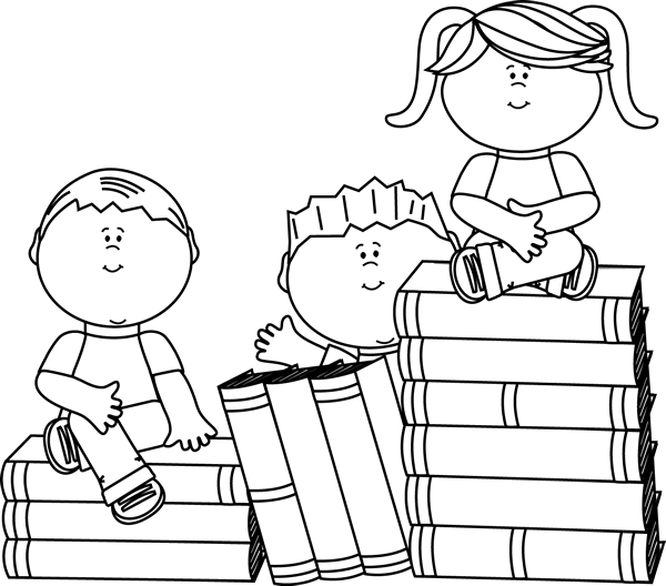 Boy reading a book black and white clipart clipart royalty free library Cute for our wagging Tail childrens reading program...clip art black ... clipart royalty free library