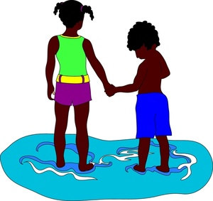 African american brother clipart freeuse stock African American kids, brother and sister, holding hands at the ... freeuse stock