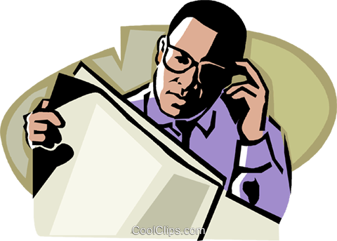 African american business man clipart png clipart library stock Man reading a newspaper Royalty Free Vector Clip Art illustration ... clipart library stock