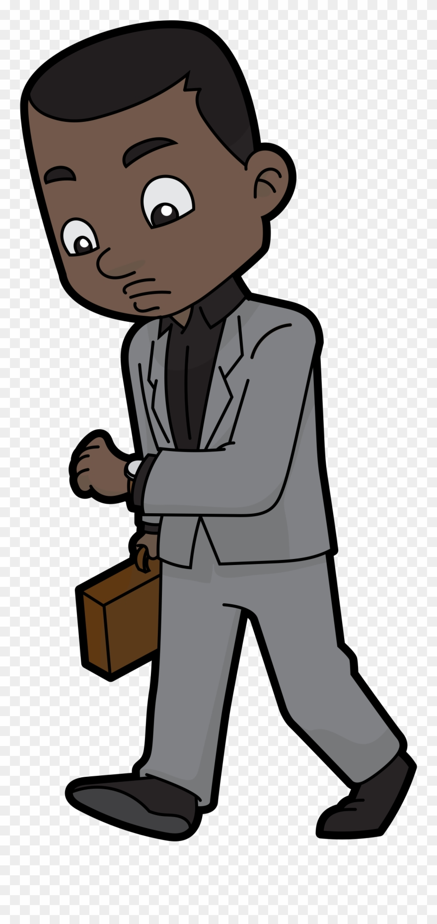 African american business man clipart png svg download Vector Transparent File Cartoon Black Checking - Black Businessman ... svg download