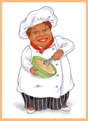 African american chef girl clipart clip art freeuse download african american women chefs | African American Woman Chef Figurine ... clip art freeuse download