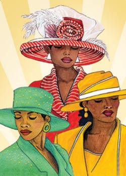African american christian women standing on rocks clipart picture black and white stock African American Ladies Church Hats | Women in Hats Magnet - African ... picture black and white stock