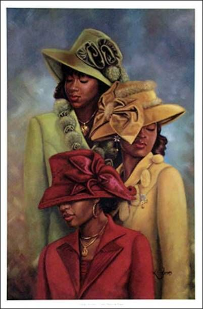 African american christian women standing on rocks clipart clip library stock African American Church Bulletin Covers | Miss Women Wearing Hats ... clip library stock