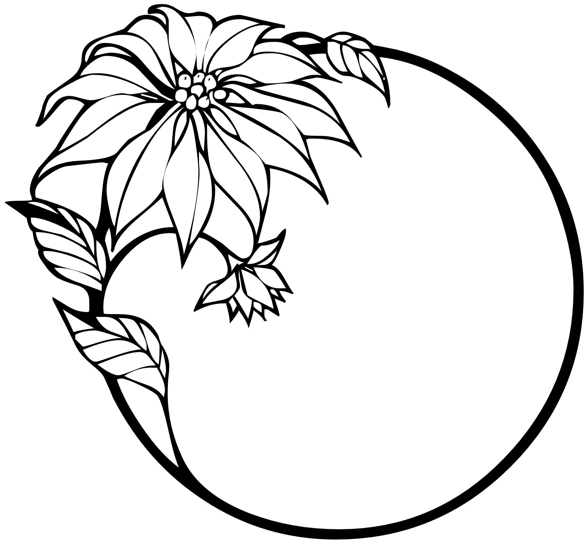 Black and white clipart of a flower clipart black and white library Christmas Clipart Black And White Border | Clipart Panda - Free ... clipart black and white library