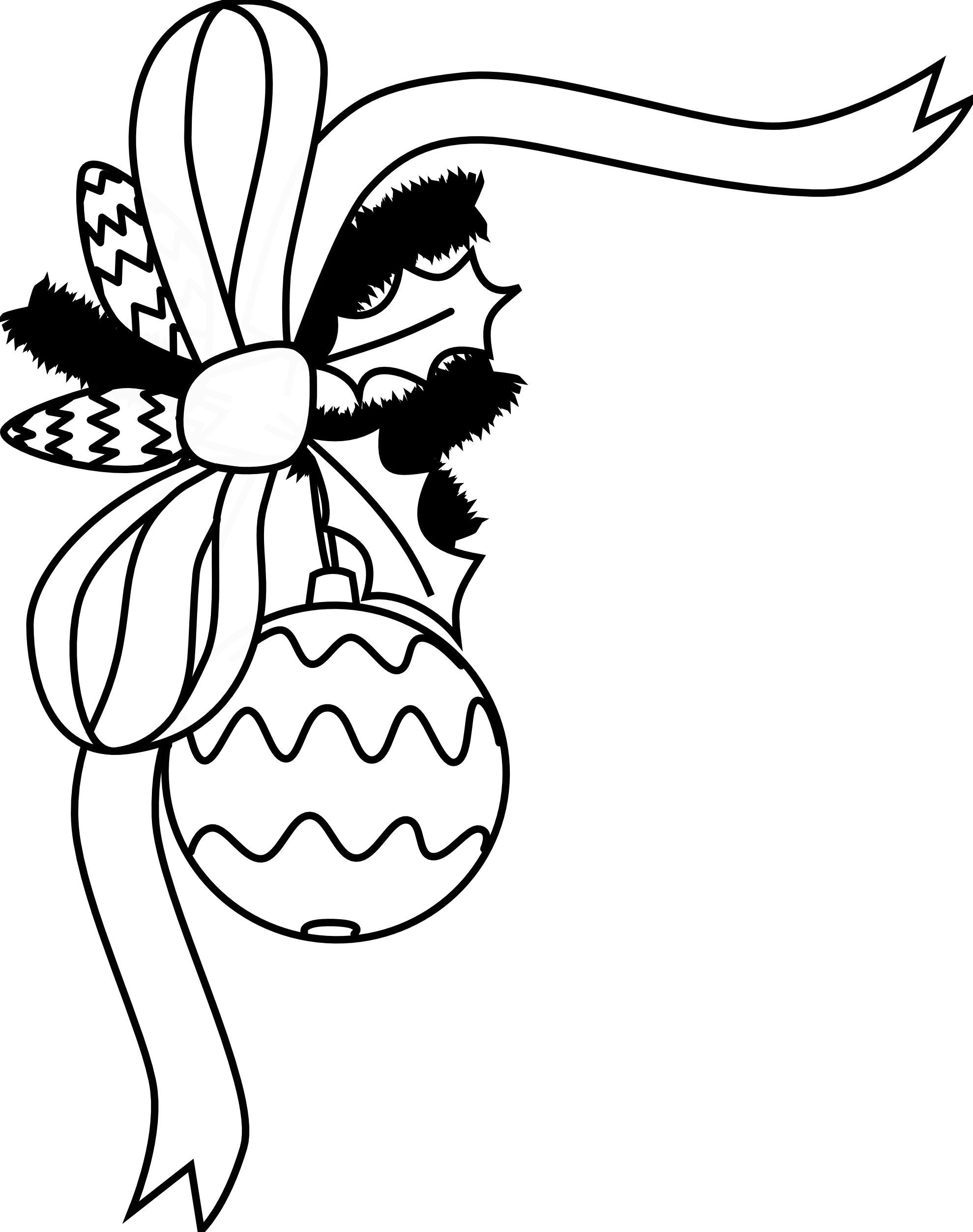 Black and white christmas wreath clipart clipart black and white stock Holiday Black And White Clipart clipart black and white stock