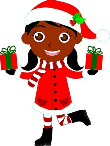 African american christmas images clipart black and white library Black Christmas Images | Free download best Black Christmas Images ... black and white library
