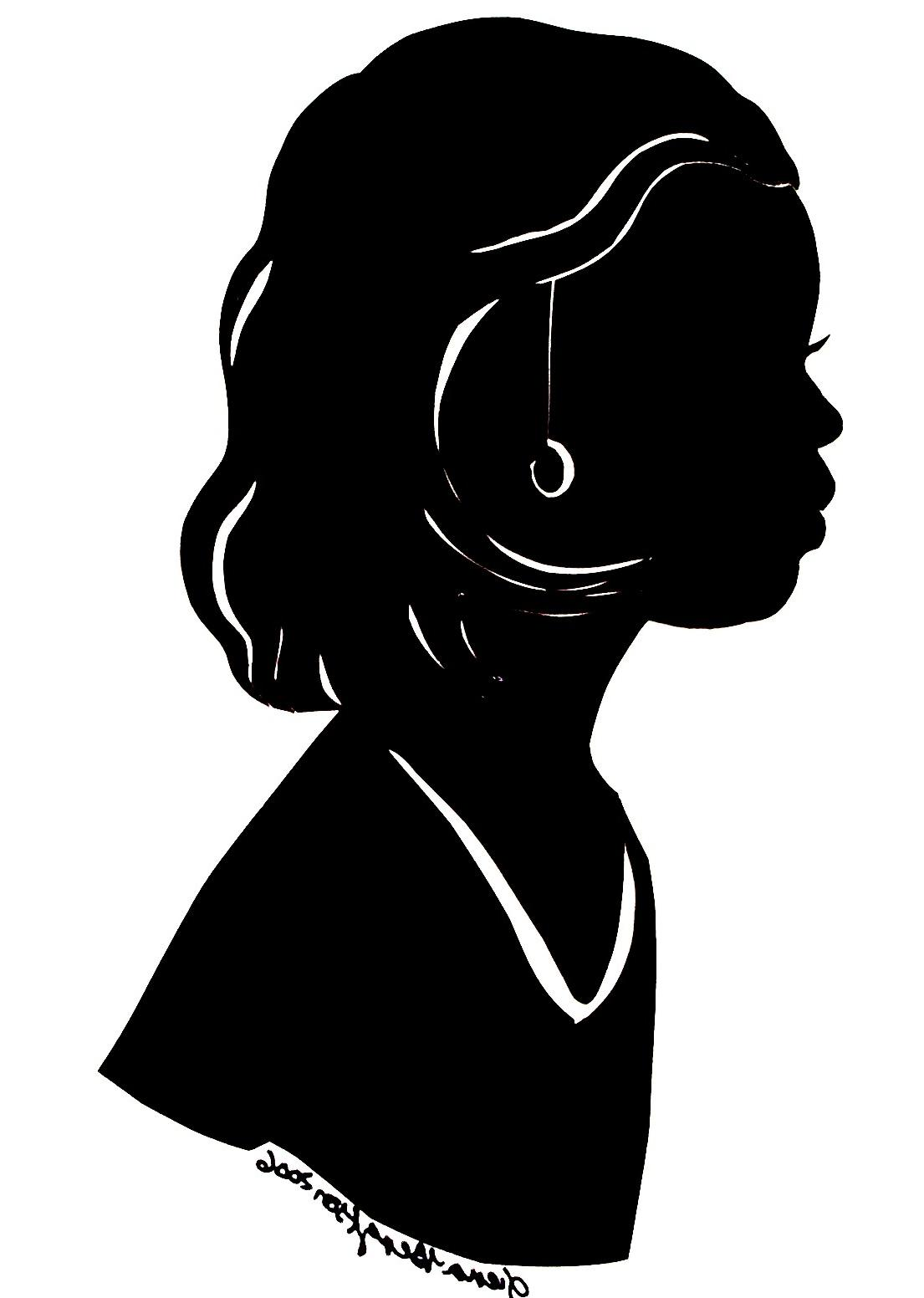 Black and white clipart of african american women clip library library HD African American Woman Silhouette Vector Library » Free Vector ... clip library library