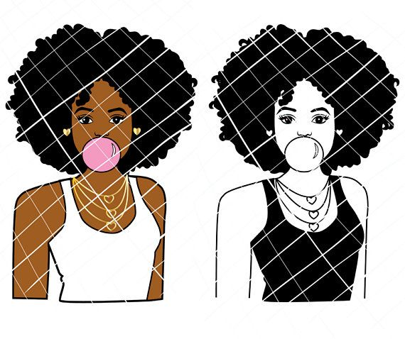 African american community clipart black and white clip black and white download African American girl poppin gum svg, black girl svg,afro lady svg ... clip black and white download