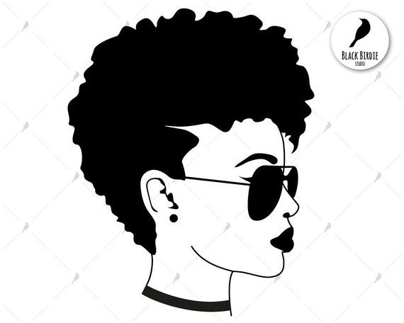 Blonde girl in glasses with braids clipart